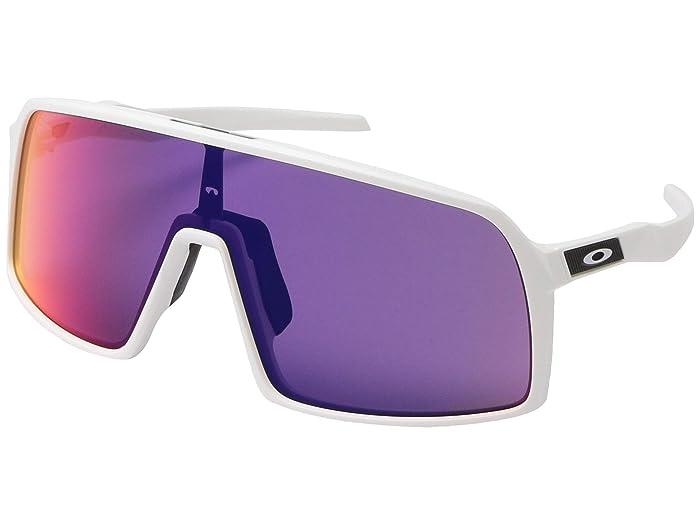 Oakley Sutro (Matte White w/ Prizm Road) Fashion Sunglasses