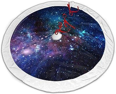 Myrdora Galaxy Animal Christmas Tree Skirt Adornos de Falda de ...
