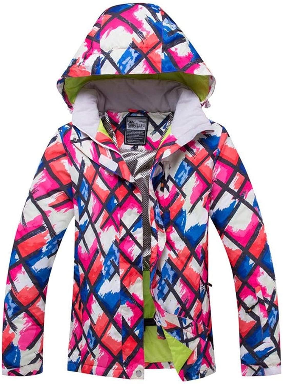 LNLW Frauen Skijacke Snowboard Bergwasserdichte Schnee-Winter-Winddichtes Regen im Freien Sport Wear