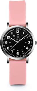 TICCI Women's Petite Watch for Medical Professionals Easy to Read Small Face, Silicone Band, Second Hand, Military Time for Nurses, Doctors,Students