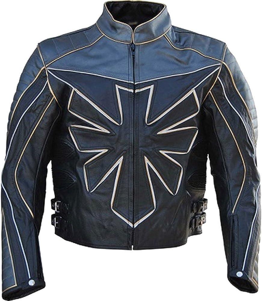 Men's 完売 毎日続々入荷 Custom Triumph Real Black Motorcycle Jacket Leather