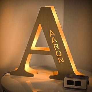 VEELU Lampara Personalizada Luz con Nombre Grabado Iluminación de Ambiente Luz de Pared 3D de Letra