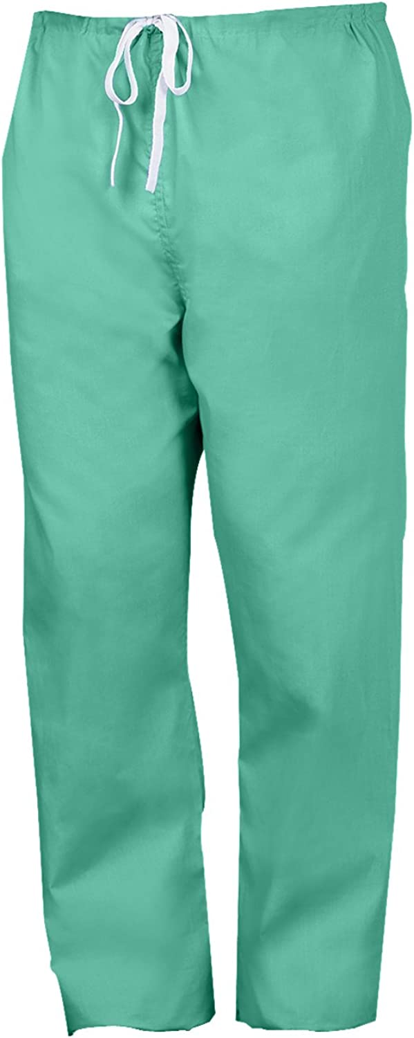 Worklon 896L Polyester Cotton Unisex Scrub Pant with Drawcord Closure, Green, Large