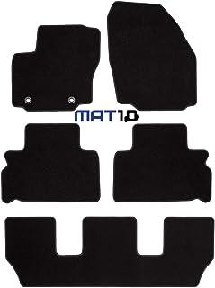MAT10 – Black Line: Ford S Max 7 Sitzer und Galaxy 7 Sitzer Baujahr 2006 05  2012 07 Auto Fußmatten Autoteppich Dilour Nadelfilz gute Qualität 4 teilig Schwarz Garantierte Passform