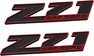 Aimoll 2pcs (Small Size) Z71 Off Road Emblems,Replacement 3D Decal Emblems for GMC Chevy Silverado Sierra Suburban Colorad...