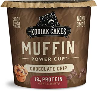 Sponsored Ad - Kodiak Cakes Minute Muffins, Chocolate Chip, 2.36 Ounce (Pack of 12)