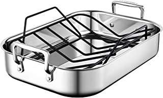 Le Creuset SSC8611-35P Stainless Steel Small Roasting Pan With Nonstick Rack, 14