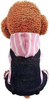 Pet Clothes,Pet Keep Warm Pocket Bib Pants Autumn and Winter Cat Dog Apparel Cold Weather Dog Jacket