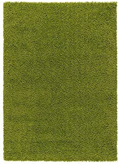 Ikea Rug, high pile, bright green 4' 4
