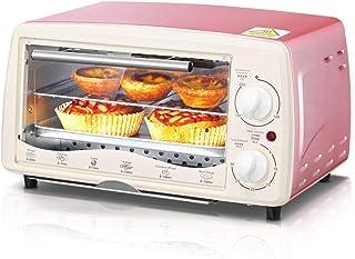 L.TSA Cocina Mini Hornos domésticos Capacidad de 12L Máquina de Hornear Multifuncional Temporizador de horneado eléctrico Horno 60Min Pizza Tostadora de Pan
