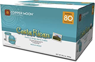 Copper Moon Coffee Single Serve Pods for Keurig 2.0 K-Cup Brewers, Costa Rican Blend, Medium Roast Coffee with A Bright but Smooth Balanced Body and Sweet Aroma, 80 Count