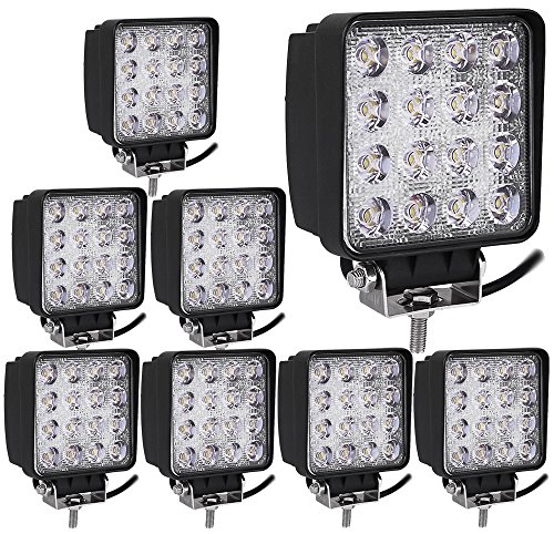 Kaleep 8X 48W LED Offroad Zusatzscheinwerfer Scheinwerfer Arbeitsscheinwerfer IP67