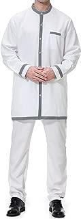 Male Shirt Long Sleeve Arabic-Islamic Clothing for Men Kaftan Dubai Abaya Muslim Gown Abaya Plus Size Set
