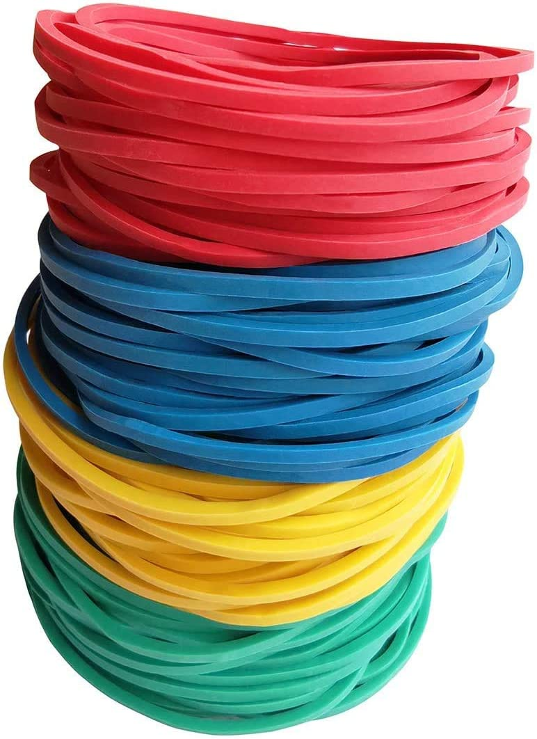 Colorful Elastic Stretchable Stationery Holder Band Loops for Arts Crafts Document Office Supplies Organizing PAZUU Rubber Band Balls Rainbow 150G 0.33lb
