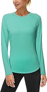 Roadbox Women's Long Sleeve UV Sun Shirts UPF 50+ Workout Swim Rash Guard Tops