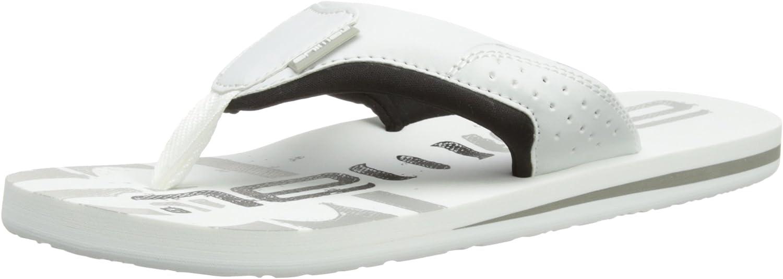 Animal Jekyl Logo Flip Flop - White