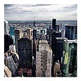 Bilderwelten Fotomural - In the middle of New York - Mural cuadrado papel pintado fotomurales murales pared papel para pared foto 3D mural pared barato decorativo, Dimensión Alto x Ancho: 336cm x 336cm