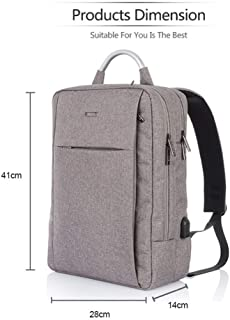 Fashion Daily Backpack Laptop Backpack Bag with USB Charging Slot Large-Capacity Multi-Function Backpack (Color : Gray, Size : 14 inches)