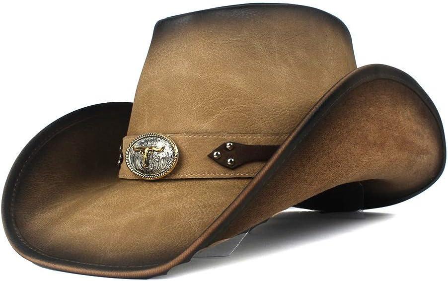 Opled Size 58-59CM Cowboy Hat for Dad Fedora Men Leather Gen Rare Genuine