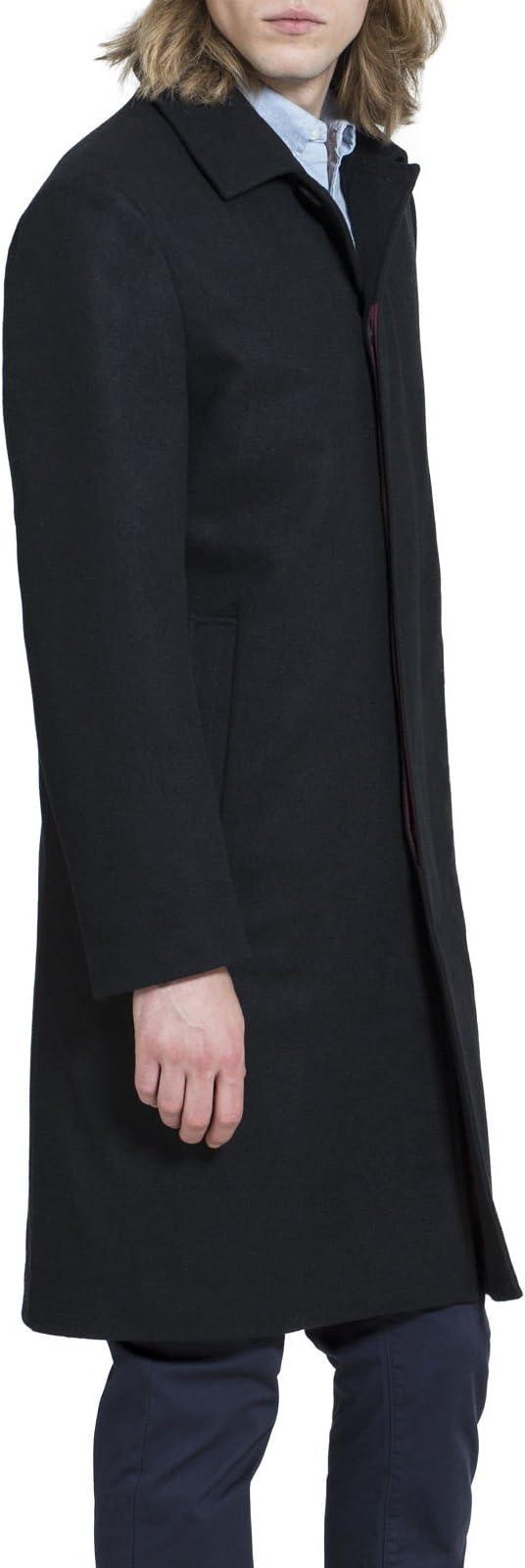 Carter /& Jones Casual Funnel Neck Wool Coat in Black S to 3X 54378w