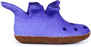 Felted Wool Slippers for Kids - Hide or Rubber Sole - Many Colors - Fairtrade - Peter Pan Boot