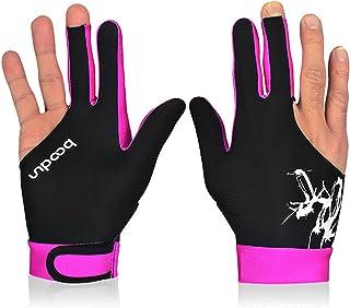 BOODUN 1Piece Billiard Glove 3 Fingers Cue Sports Glove Men Women Billiard Shooters Right Left Interchangeable Snooker Gloves