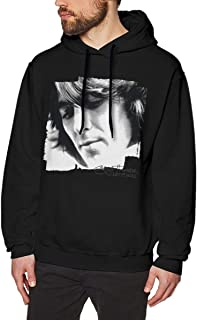 LANDONL Mens George Harrison Let It Roll Songs Hoodies Hoodie Black