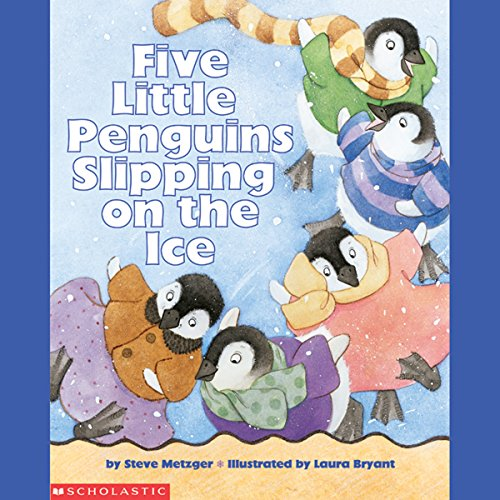 Five Little Penguins Slipping on the Ice copertina
