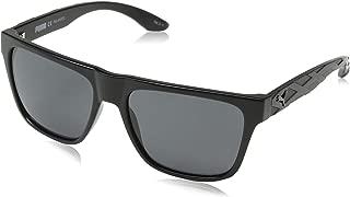 Puma Men's PU0008S PU0008S-002 57 Polarized Wayfarer Sunglasses, Black, 57 mm