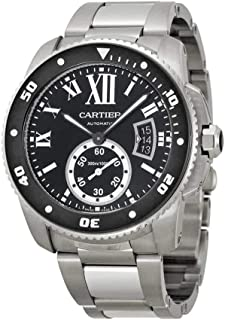 5ff923a12e7 Cartier Calibre de Cartier Diver Black Dial Steel Mens Watch W7100057