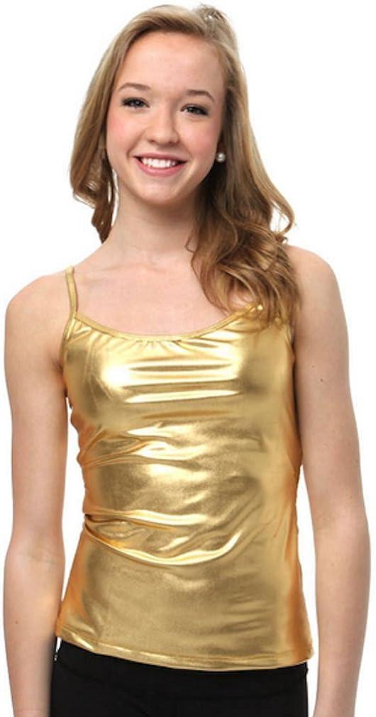 Gia Mia Girls Sparkly Metallic Cami Camisole Ages 6 to 18+
