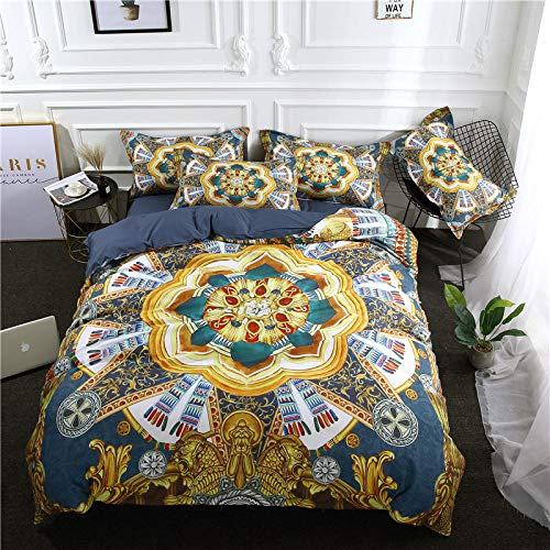 Wzhfsq Fxirza Duvet Cover Bedding Set - Colorful Boho Style 200 * 200Cm 3 Duvet Cover And Two Pillow Cases Polyester Fiber 3D Digital Print
