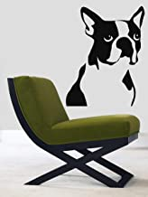 Wall Decor Vinyl Decal Sticker Home Interior Design Pets Boston Terrier Dog Animals Pet Shop Kj831