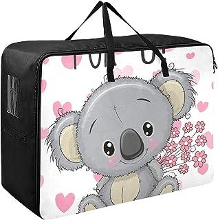 Organisateur de vêtements vêtements mignon gris dessin animé fleurs Koala hebdomadaire vêtements organisateur 70 X 50 X 28...