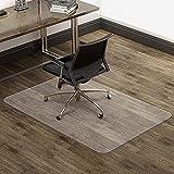 Alfombra protectora de suelo para silla de oficina, 90 x 120 cm, grosor 2,2 mm, alfombra de suelo duro, transparente y antideslizante, alta resistencia a los impactos, se entrega plano