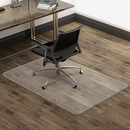 Tapis Protège Sol pour Chaise Bureau- 90 x120 cm- Epaisseur 2.2mm-Tapis de sols durs- Transparent et antidérapant- Haute résistance aux impacts-Tapis de Haute qualité
