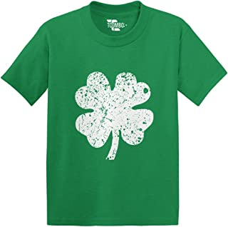 Distressed Irish Shamrock - Clover- St Patricks Day Gift Toddler/Infant T-Shirt (Kelly Green, 5T)