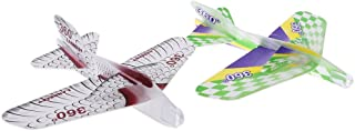 DYNWAVE 2個 手投げ グライダー 飛行機 モデル 回転飛 指先鍛え 発泡製 軽量 組み立て玩具 DIY手作り