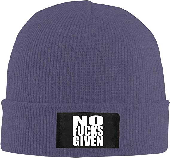 Mens and Womens No Fuck Given Knitting Hat 100/% Acrylic Comfortable Beanies Cap
