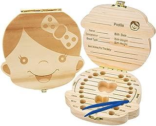 FANS /& Friends Caja para dientes de leche con medalla para ni/ños y ni/ñas registro de regalos Caja del Ratoncito P/érez color: rosado Caja para dientes de leche