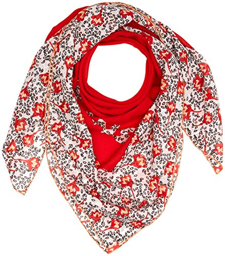 Tommy Jeans dames TJW FLORAL SQUARE sjaal, rood (Red Mix 902), één maat
