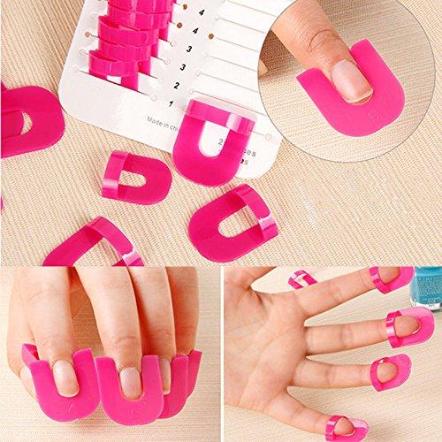 Gazechimp 26 Piezas Manicura Arte de Clavo Caso Protector de Uña Dedo Color Rojo de Rosa