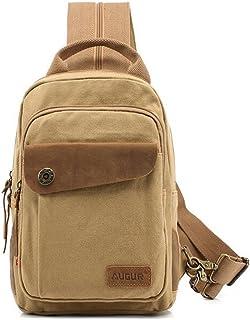Generic Men Canvas Chest Backpack Shoulder Sling Satchel Bag Hiking Travel Sports Pa
