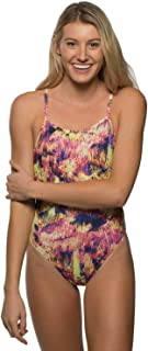 JOLYN Limited Edition St. Martin Print Perry Fixed-Back One-Piece Swimsuit