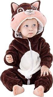 COOKY.D Unisex Baby Strampler mit Kapuze 0-24 Monate