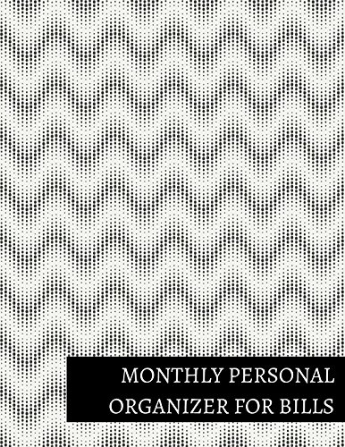 Monthly Personal Organizer For Bills