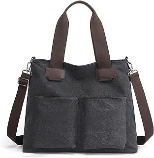 Oichy Handtasche Damen Mode Canvas Shopper Groß Schultertasche Multi Taschen Umhängetasche