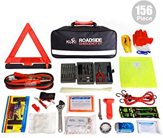Kolo Sports 156-Piece Premium Auto Emergency Kit Multipurpose Emergency Pack - Great for Automotive Roadside Assistance & First Aid Set - The Ultimate All-in-One Solution