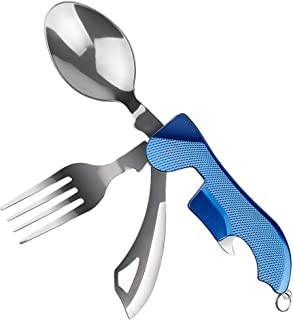 folding camping utensil knife fork spoon