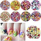 TANGGER 8000PCS 3D Uñas Frutas Nails Decoración,Slime Relleno Decoración,Pegatinas Uña...